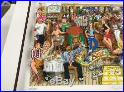 Charles Fazzino Manhattan. Martinis. And Moonlight 3-D Art Deluxe Edition