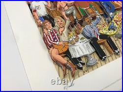 Charles Fazzino Manhattan Martinis and Moonlight 3-D Art Signed & Numbered