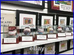 Charles Fazzino Mickey Mantle 3D Hand Painted Baseball 1/1 Autograph NY Yankees