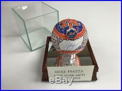 Charles Fazzino Mike Piazza 3D Hand Painted Autograph Baseball NY Mets HOF 2016