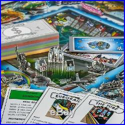Charles Fazzino Monopoly World Silver Edition Signed & Numbered
