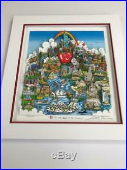 Charles Fazzino NYC Is The Apple Of The World 3-D Art Signed & Number Deluxe