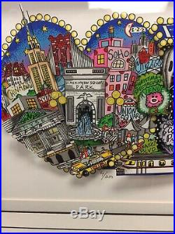 Charles Fazzino Next Stop Broadway Signed Numbered Limited Edition 3D Pop Art