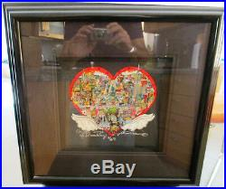 Charles Fazzino On the Wings of Broadway 3D Art Signed and Numbered 2/50 PR