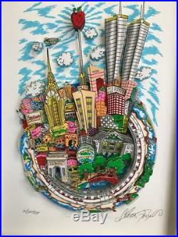 Charles Fazzino One World, One New York City 3-D Artwork Signed & Numbered DX