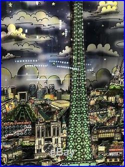 Charles Fazzino Paris Eiffel Tower Aluminum Pop Art Limited Edition