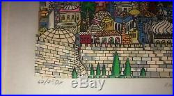 Charles Fazzino Rainbow Over Jerusalem 3d Serigraph Sold Out Edition