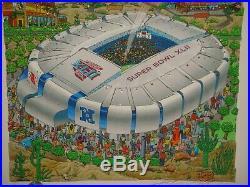 Charles Fazzino SUPER BOWL XLII New York Giants vs New England Patriots