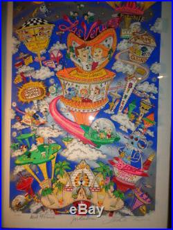 Charles Fazzino Signed & Numbered #102 of 400 The Jetsons Take Vegas Mixed Med
