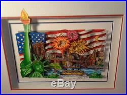 Charles Fazzino Signed & Numbered 3/150 DX Sweet Land of Liberty Sericel WithCOA