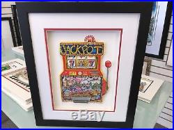 Charles Fazzino Slots of Fun 3-D Art Signed & Number Deluxe Edition Framed