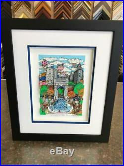 Charles Fazzino Sunday in the Park 3-D Art Signed & Number Edition Framed