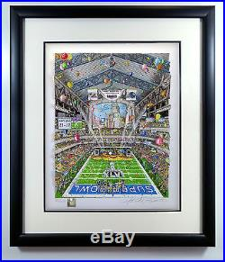 Charles Fazzino Super Bowl XLVI Indianapolis DX Patriots Giants COA Sold Out