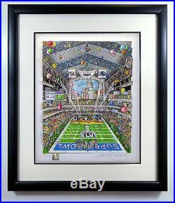 Charles Fazzino Super Bowl XLVI Indianapolis DX Patriots Giants COA Sold Out