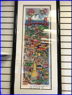 Charles Fazzino That San Francisco Treat 3-D Artwork Signed & Number Framed