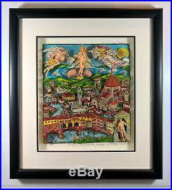 Charles Fazzino The Italy Suite Florence AP Edition Limited 3-D Pop Art Fr