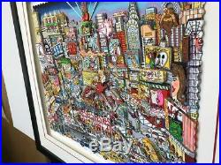Charles Fazzino The Neon Lights Shine Bright on Broadway 3-D Artwork Signed