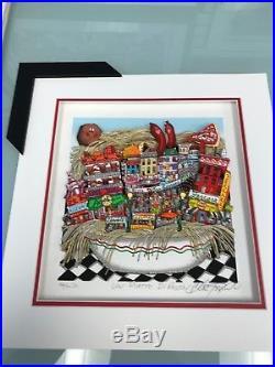 Charles Fazzino Un Piatto Di Pasta 3-D Art Signed & Number Deluxe Ed. Framed