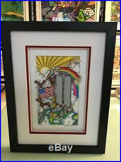 Charles Fazzino United We Stand 3-D Art Signed & Numbered Framed