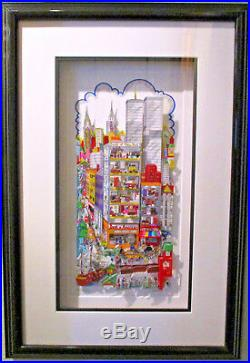 Charles Fazzino You can Bank on it New York 3-D Art Signed Numbered 78/200 DX