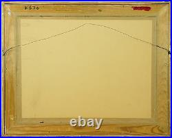 Charles Kvapil (1884-1957) Belgium, Figure Composition Gouche & Charcoal Signed