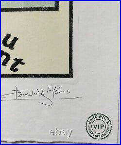Chateau Marmont, Nagel, AP. Or Numbered Edition Print, Signed Fairchild Paris