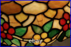 Chicago Mosaic Leaded Glass Table Lamp Colorful Antique