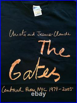 Christo & Jeanne Claude The Gates- Rare Authentic Fabric Swatch, Bolts & T-shirt
