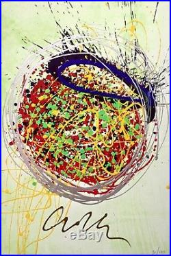 Confetti Blast Painting (Lithograph & Acrylic), Limited Edition, Dale Chihuly