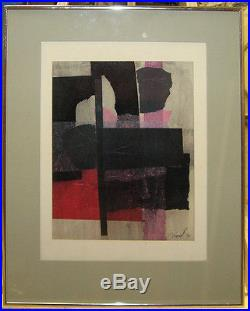 Constantine Arvanites'70 Abstract Collage Listed Boston Rockport Artist