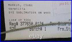 Csaba Markus Digital Multiple on Wood Vermillia 2016 with COA and Appraisal