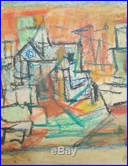 Cuban Art. Drawing by Juan David. Untitled, ca 1968. Mixed media on paper