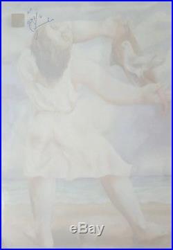 Cuban Art. Painting by Mariano Rodriguez. Mujer sentada, ca. 1943. Mixed media