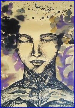 Cuban Art. Painting by Zaida Del Rio. La Aurora, 1999. Mixed media on cardboard