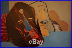 DAVE KINSEY Original Mixed Media Gemälde Artwork Painting BLK/MRKT