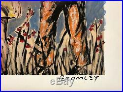 DAVID BROMLEY Children Series Holding Hands Mixed Media 90cm x 67cm