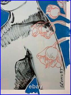 DAVID BROMLEY Nude Series Charlotte Mixed Media on Card 107cm x 82cm