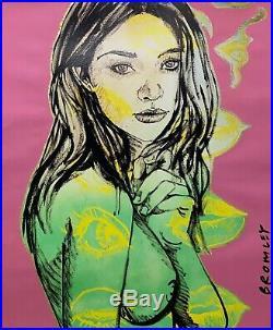 DAVID BROMLEY Nude Series Kaye Mixed Media on Card 88cm x 73cm