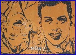 DAVID BROMLEY Original Mixed Media on Canvas Painting 57cm x 76cm
