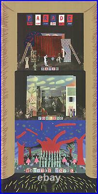 DAVID HOCKNEY Parade- Metropolitan Opera 81 x 41 Mixed Media 1982 Pop Art