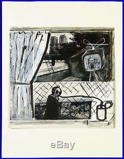 DDR-Kunst. Untitled, 1988. Übermalung von Oskar MANIGK (1934 D), handsigniert