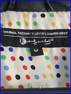 Damien Hirst Levis Andy Warhol Factory Lederjacke