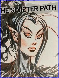 Dan Brereton original Nyx Nocturnals The Sinister Path sketch cover art GN #1