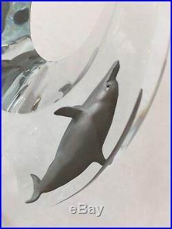 Dan Medina Dolphin Lucite Bronze Sculpture Statue, Mixed Media, Limited Edition