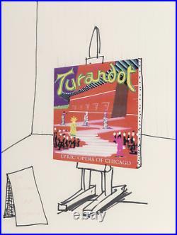 David HOCKNEY. (b. 1937) Turandot Mixed Media on paper