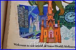 + David Klein CHICAGO Fly TWA ORIGINAL Travel Poster Art GOUACHE / MIXED MEDIA +
