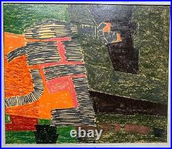 Desmond McLean 1960 abstract expressionist painting Baziotes pupil NJ artist