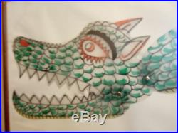 Dragon Kataramenos Ofis Karagiozis Greek Artist Eugenios Spatharis Signed Rare