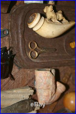 Drew Strouble Original Assemblage Who Threw the Wrench Into the Sands of Time