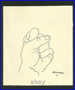 EDUARDO CHILLIDA ink on original paper of 80's